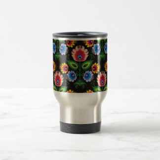 painel d'imagem floral tasses à café