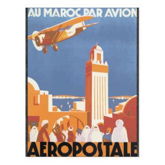 Pair Avion Aeropostale, cru de Maroc d'Au Carte Postale