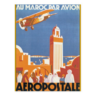 Pair Avion de Maroc d'Au Carte Postale