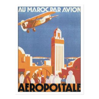 Pair Avion de Maroc d'Au d'Aeropostale Carte Postale