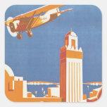 Pair Avion de Maroc d'Au Sticker Carré