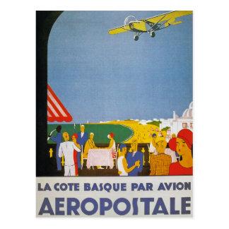Pair Basque Avion de Cote de La Cartes Postales