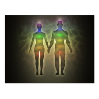 pair de chakra aura twinsouls healinglove éner carte postale
