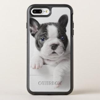 Pair de deux chiots de bouledogue français coque OtterBox symmetry iPhone 8 plus/7 plus