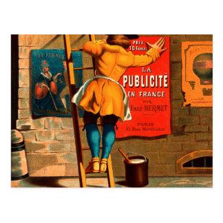 Pair Emile Mermet d'en France de publicité de La Cartes Postales
