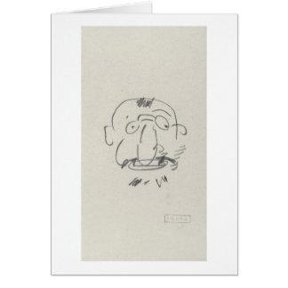 Pair Lui-Meme crayon de Lautrec de charge sur le Carte De Vœux