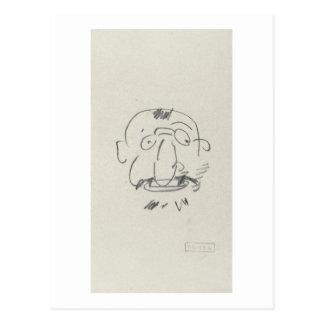 Pair Lui-Meme crayon de Lautrec de charge sur le Carte Postale