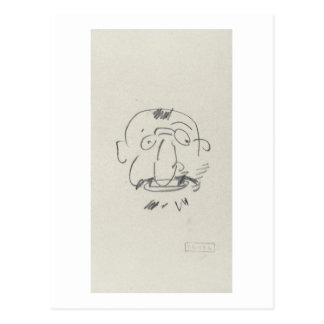 Pair Lui-Meme (crayon de Lautrec de charge sur le Cartes Postales