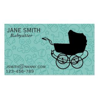 Paires de bonne d'enfants/Au/babysitter Carte De Visite