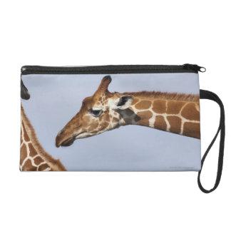 Paires de girafes réticulées (Giraffa) Sac À Main Avec Dragonne