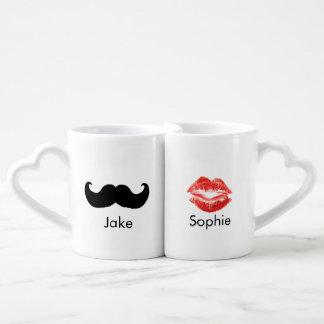 Paires de tasse nommée faite sur commande de tasse duo