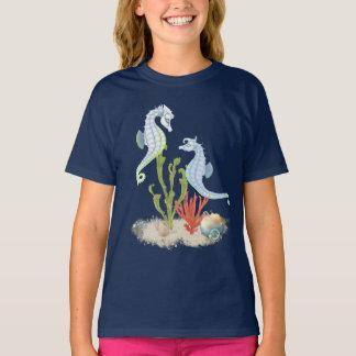 Paires d'hippocampe t-shirt