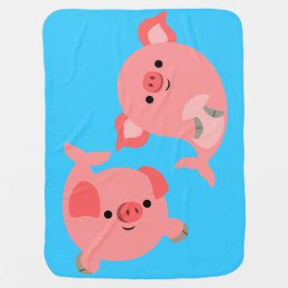 Paires mignonnes de couverture de bébé de Merpigs