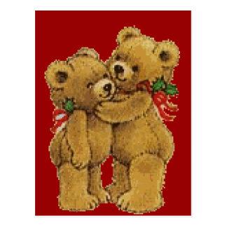 Paires mignonnes de Noël Carte Postale
