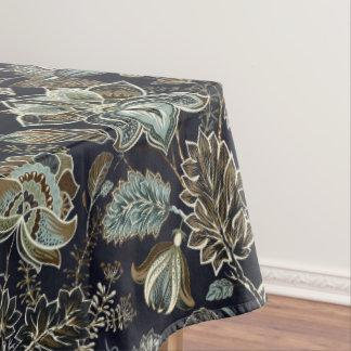 Paisley antique fleurit le motif noir d'arrière - nappe
