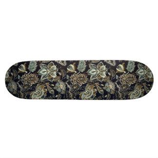 Paisley antique fleurit le motif noir d'arrière - planche à roulette