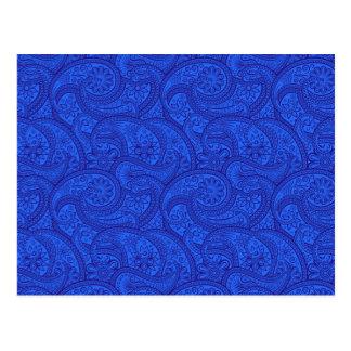 Paisley bleu cartes postales
