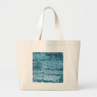 Paisley bleu grand tote bag