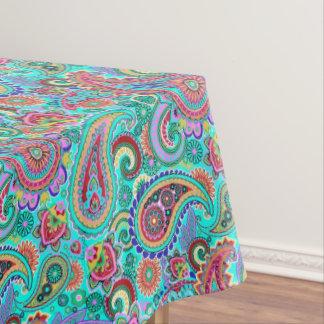 Paisley coloré floral à la mode nappe