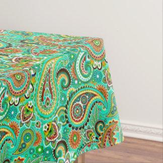 Paisley coloré floral moderne nappe