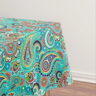 Paisley coloré floral nappe