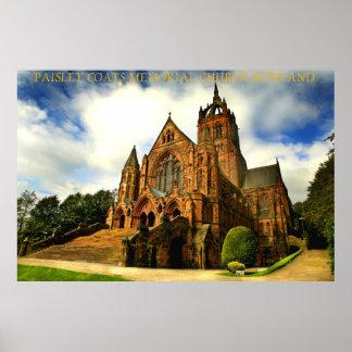 Paisley enduit l église commémorative Ecosse Posters