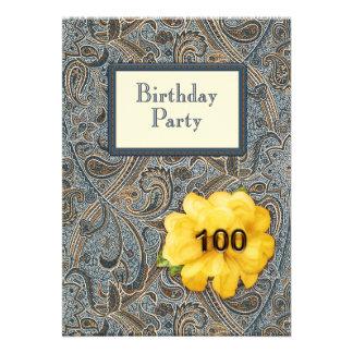 Paisley et anniversaire rose 100