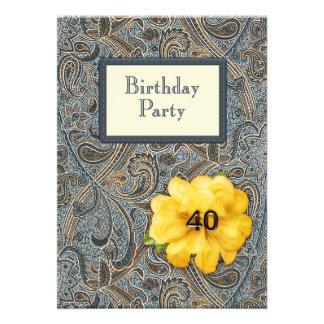Paisley et anniversaire rose 40