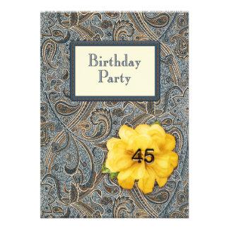 Paisley et anniversaire rose 45