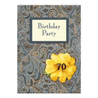 Paisley et anniversaire rose 70