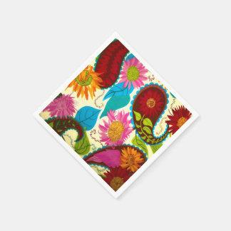 Paisley floral serviettes en papier