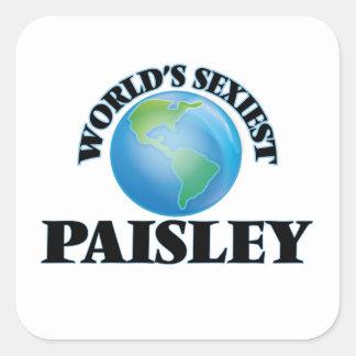 Paisley le plus sexy du monde sticker carré