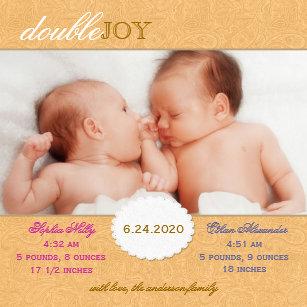 Invitations Faire part & Cartes Naissance Des Gar§ons Jumeaux