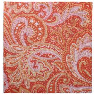 Paisley orange serviette en tissu