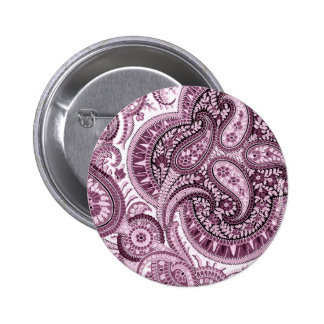 Paisley rose badge avec épingle