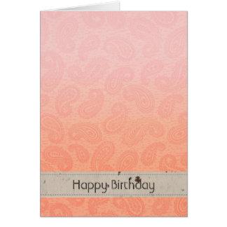 Paisley rose carte de vœux