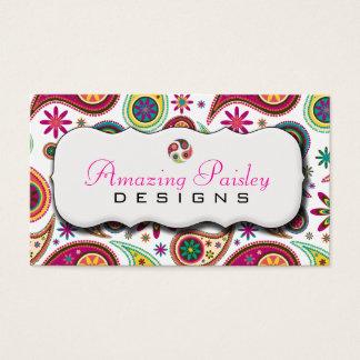 Paisley stupéfiant cartes de visite