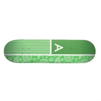 Paisley vert planche à roulette