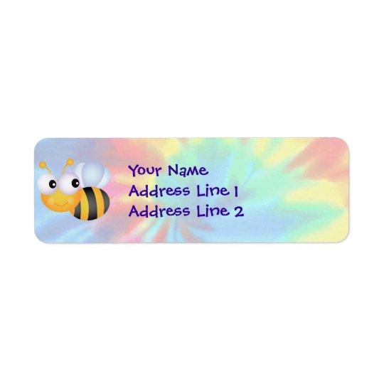 Paix, amour, abeilles étiquette d'adresse retour