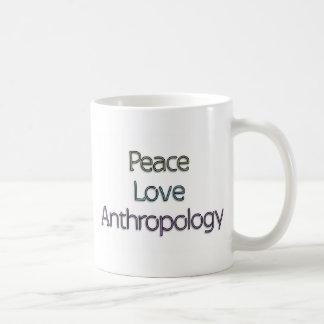 Paix, amour, anthropologie mug