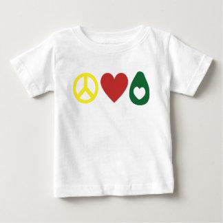 Paix, amour, chemise d'enfant en bas âge d'avocat t-shirt pour bébé