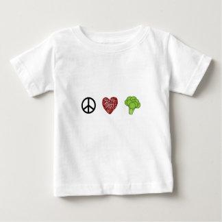 Paix, amour, et brocoli t-shirt pour bébé