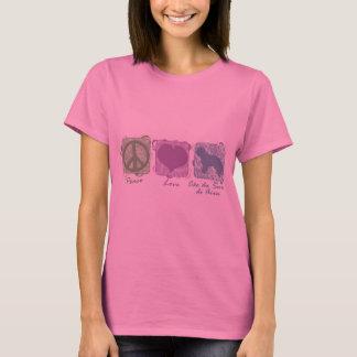 Paix, amour, et Cão en pastel DA Serra de Aires T-shirt