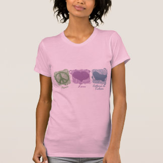 Paix, amour, et Cotons de Tulear en pastel T-shirt