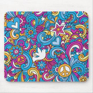 Paix, amour et joie tapis de souris