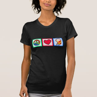 Paix, amour, maïs éclaté t-shirt