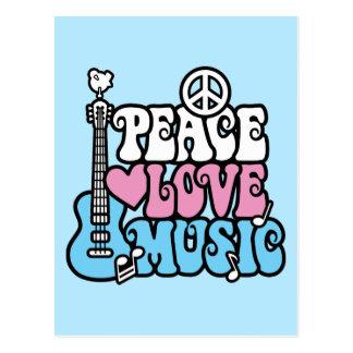 Paix-Amour-Musique Carte Postale