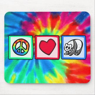 Paix, amour, pandas tapis de souris