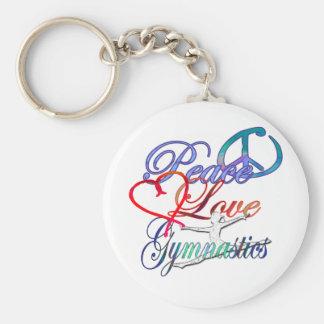 Paix, amour, porte - clé de gymnastique porte-clé rond