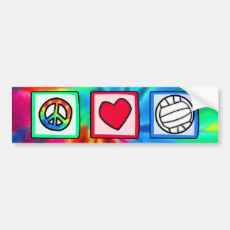 Paix, amour, volleyball autocollant pour voiture